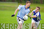 Laune Rangers Jack O'Connor breaks forward chased by Kerins O'Rahilly's Jason O'Leary during their county League Division 5 clash in JP O'Sullivan Park, Killorglin on Sunday...................
