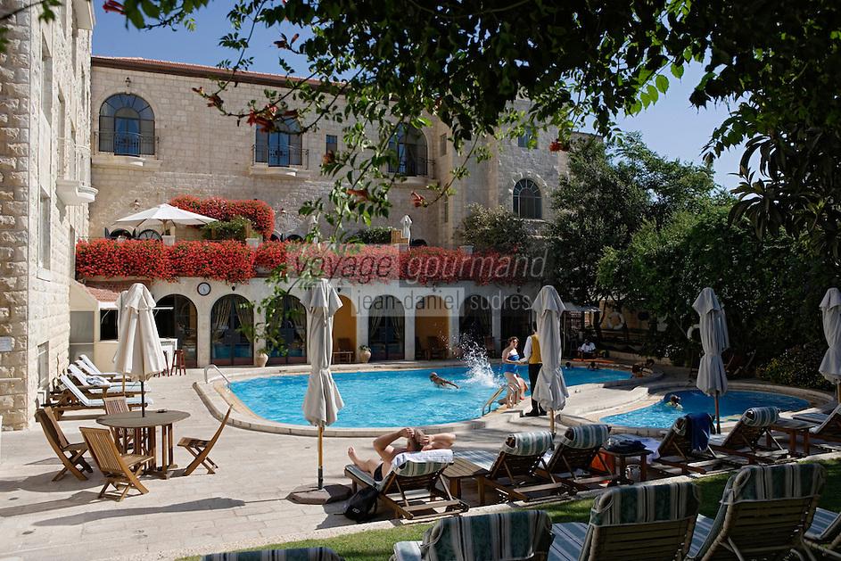 Asie/Israël/Judée/Jérusalem: Hotel American Colony la piscine