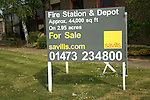 Saviills estate agent sign Fire Station and Depot for sale