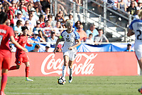 Cary, NC - Sunday October 22, 2017: Megan Rapinoe during an International friendly match between the Women's National teams of the United States (USA) and South Korea (KOR) at Sahlen's Stadium at WakeMed Soccer Park. The U.S. won the game 6-0.