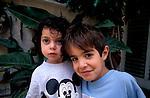 Israel, Noam with cousin Ella in Herzliya