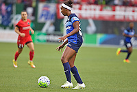 Portland, Oregon - Saturday July 9, 2016: FC Kansas City defender Brianne Reed (22) during a regular season National Women's Soccer League (NWSL) match at Providence Park.