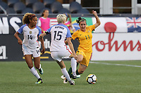 Seattle, WA - Thursday July 27, 2017: Lisa De Vanna during a 2017 Tournament of Nations match between the women's national teams of the United States (USA) and Australia (AUS) at CenturyLink Field.