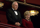 Washington, D.C. - December 3, 2006 -- United States Vice President Dick Cheney and his wife, Lynne, attend the annual Kennedy Center Honors Gala, Sunday, December 3, 2006, in Washington, DC.  .Credit: Chris Greenberg - Pool via CNP