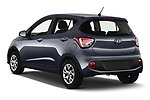 Car pictures of rear three quarter view of 2019 Hyundai i10 Twist 5 Door Hatchback Angular Rear