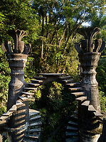 Drone shots of Las Pozas, Edward James surrealist sculptures in the jungle of Xilitla, San Luis Potosi, Mexico