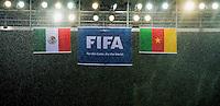 Bandiere sotto la pioggia <br /> Natal (Brasile) 13-06-2014 Estadio Das Dunas. Group A Mexico - Cameroon / Messico - Camerun 1-0 . Football 2014 Fifa World Cup Brazil - Campionato del Mondo di Calcio  Brasile 2014 <br /> Foto Fotoarena/Panoramic/Insidefoto