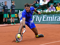 7e  journee :    Juan Martin Del potro<br /> Tennis Roland Garros 2017 <br /> Foto Antoine Couvercelle / Panoramic / Insidefoto <br /> ITALY ONLY