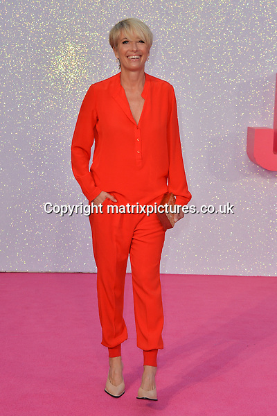 NON EXCLUSIVE PICTURE: MATRIXPICTURES.CO.UK<br /> PLEASE CREDIT ALL USES<br /> <br /> WORLD RIGHTS<br /> <br /> English &quot;Burnt&quot; actress Emma Thompson attends the world premiere of &quot;Bridget Jones's Baby&quot; at Leicester Square in London.<br /> <br /> SEPTEMBER 5th 2016<br /> <br /> REF: JWN 162864