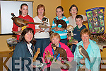 Showing off some of the birds and animals at the Earth Day at the Community Centre on Saturday were, Patricia McEllistrim, ball bunion, Maura Daly, Ballybunion, Key O'Leary, Lyrecrompane, Siobhan Long, Killdubh, Mary Dowling, Lyrecrompane, Katie Dowling, Duagh, Joan Long,. Lyrecrompane and David  Long Kildubh.   Copyright Kerry's Eye 2008