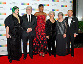 George Lucas, wife Mellody Hobson, and guests arrive for the formal Artist's Dinner honoring the recipients of the 38th Annual Kennedy Center Honors hosted by United States Secretary of State John F. Kerry at the U.S. Department of State in Washington, D.C. on Saturday, December 5, 2015. The 2015 honorees are: singer-songwriter Carole King, filmmaker George Lucas, actress and singer Rita Moreno, conductor Seiji Ozawa, and actress and Broadway star Cicely Tyson.<br />