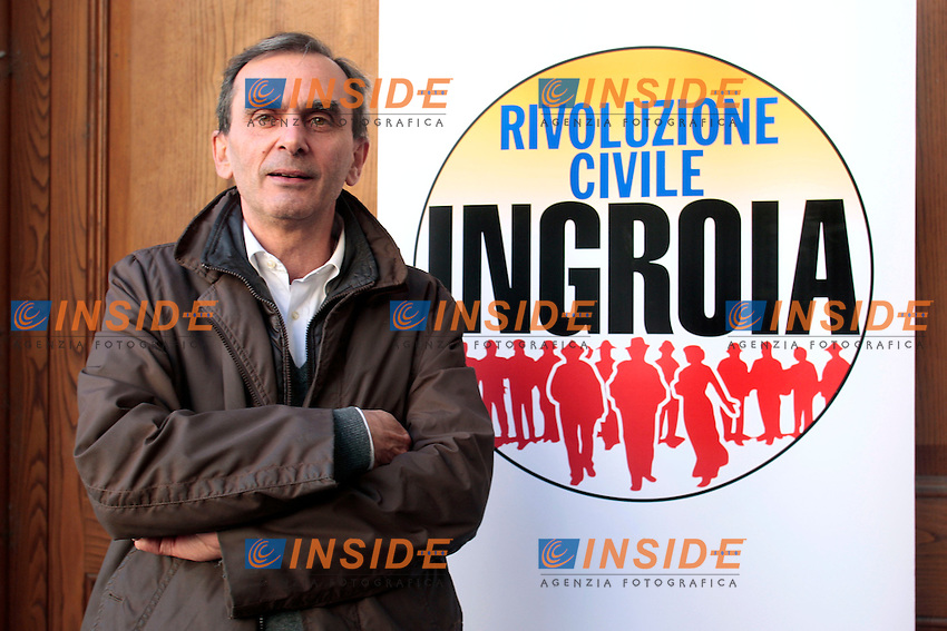 Franco La Torre, figlio di Pio La Torre, candidato con il movimento.Roma 29/12/2012 Presentazione del movimento, lista 'Rivoluzione Civile'..Photo Samantha Zucchi Insidefoto