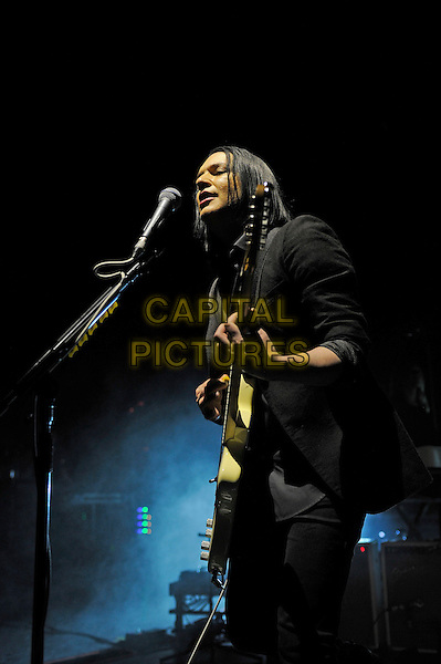 LONDON, ENGLAND - MARCH 25: Brian Molko of 'Placebo' performing at Eventim Apollo on March 25, 2015 in London, England.<br /> CAP/MAR<br /> &copy; Martin Harris/Capital Pictures