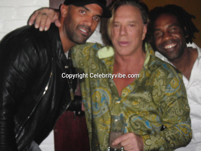 **EXCLUSIVE**.Mickey Rourke with Singer Craig David..2009 VMA Awards Post Party Hosted by Unik..Cipriani Downtown..New York, NY, USA..Sunday, September 13, 2009. .Photo By Celebrityvibe.com.To license this image please call (212) 410 5354; or Email: celebrityvibe@gmail.com ;.website: www.celebrityvibe.com