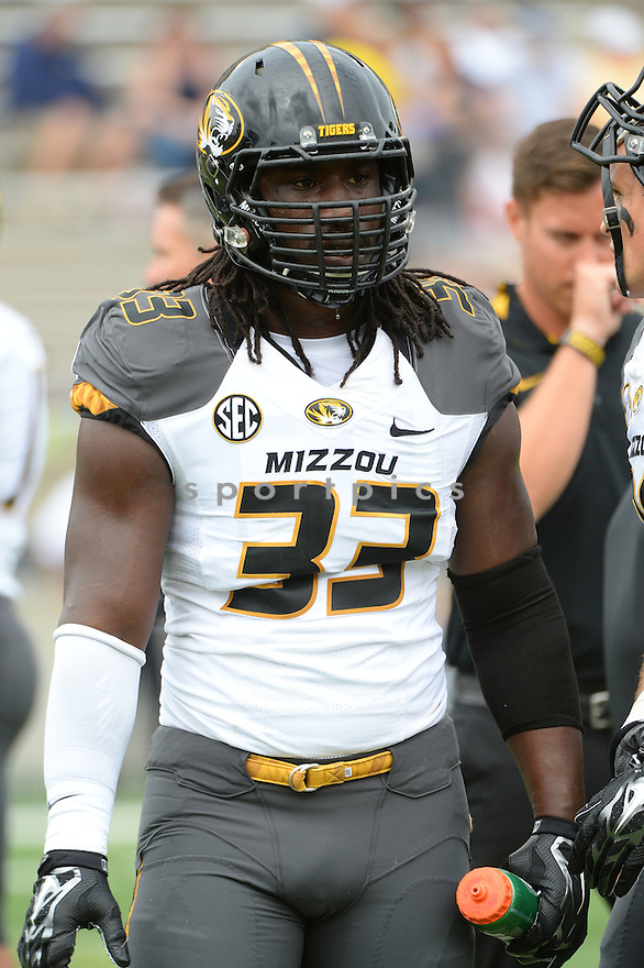 Missouri Tigers Markus Golden (33) during a game against the Toledo Rockets on September 6, 2014 at the Glass Bowl in Toledo, OH. Missouri beat Toledo 49-24.
