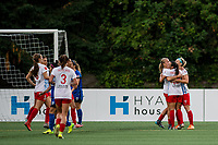 Seattle, WA - Wednesday, June 28, 2017: Chicago Red Stars celebrate during a regular season National Women's Soccer League (NWSL) match between the Seattle Reign FC and the Chicago Red Stars at Memorial Stadium.