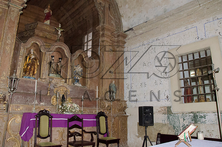Interior da Igreja dos Santos Cosme e Damião (1535), Igarassu - PE, 12/2012.