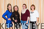 Sarah O'Sullivan, Danielle O'Sullivan, Katie Teahan and Angela Teahan enjoying  the IT Tralee Society of SVP Fashion Show at Fels Point Hotel on Thursday