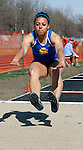 BROOKINGS, SD - April 22nd, 2009 : Tamiko Kopfmann of South Dakota State competes in the women's long jump Wednesday afternoon at the First Annual SDSU Twilight Track Meet at the Brookings High School Track in Brookings, SD. (Photo By Ty Carlson/Inertia)