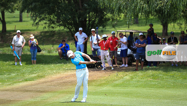 Nino Bertasio (ITA) holds up the traffic down the 2nd during Round Three of the 2016 BMW SA Open hosted by City of Ekurhuleni, played at the Glendower Golf Club, Gauteng, Johannesburg, South Africa.  09/01/2016. Picture: Golffile | David Lloyd<br /> <br /> All photos usage must carry mandatory copyright credit (&copy; Golffile | David Lloyd)