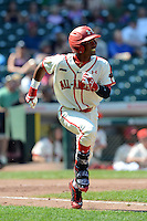 Outfielder Darius Day (42) of Simeon Career Academy in Chicago, Illinois during the Under Armour All-American Game on August 24, 2013 at Wrigley Field in Chicago, Illinois.  (Mike Janes/Four Seam Images)