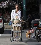 April 2nd  2012    Exclusive ...Mischa Barton shopping for fish & flowers at Whole Foods market in Los Angeles. .Mischa was carrying a blue purse while walking with her little dog. Short shorts ...AbilityFilms@yahoo.com.805-427-3519.www.AbilityFilms.com