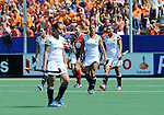 The Hague, Netherlands, June 08: During the first half during the field hockey group match (Women - Group B) between USA and Germany on June 8, 2014 during the World Cup 2014 at GreenFields Stadium in The Hague, Netherlands. Final score 4-1 (1-0) (Photo by Dirk Markgraf / www.265-images.com) *** Local caption ***