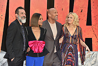 Jeffrey Dean Morgan, Naomie Harris, Dwayne Johnson, Malin Akerman<br /> 'Rampage'' european film premiere in Leicester Square, London, England on April 11, 2018.<br /> CAP/PL<br /> &copy;Phil Loftus/Capital Pictures