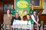 CHEQUE: On Monday evening in the Grand Hotel the Kerry Eye Tralee Maratons who raised up to ?4,000 for Kare 4 Kids L-r: Grace O'Donnell, (Kare 4 Kids, Terence Dineen, Jean Boyle, Siobhan Barrett, Ann Marie Heaslip (Kare $ Kids) and Corina Fitzgibbon.
