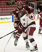 Haley Skarupa (BC - 22), Bradley Fusco (Harvard - 9) - The visiting Boston College Eagles defeated the Harvard University Crimson 2-0 on Tuesday, January 19, 2016, at Bright-Landry Hockey Center in Boston, Massachusetts.