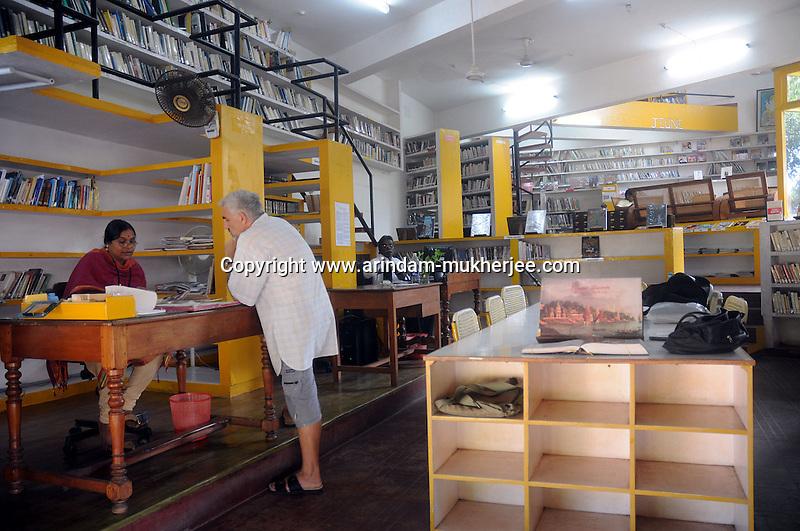 Library of Allias Francaise in Pondicherry.Arindam Mukherjee/Sipa