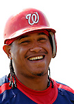 25 February 2007: Washington Nationals infielder Ronnie Belliard awaits his turn in the batting cage during practice drills at their spring training facility in Viera, Florida...Mandatory Photo Credit: Ed Wolfstein Photo