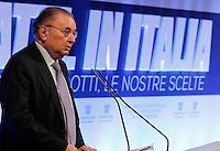 Giorgio Squinzi, presidente di Confindustria interviene durante il XXIX convegno di Capri per Napoli   dei  Giovani Industriali a Citta della Scienza , 25 Ottobre 2014