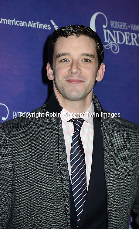 Michael Urie attends Rogers +  Hammerstein's Cinderella Broadway Opening night on March 3, 2013 at the Broadway Theatre in New York City.