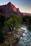 Zion's Watchman at sunset.