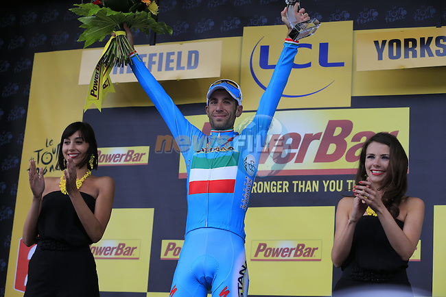 Vincenzo Nibali (ITA) Astana wins Stage 2 of the 2014 Tour de France running 200km from York to Sheffield. 6th July 2014.<br /> Picture: Eoin Clarke www.newsfile.ie
