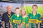 Mike, Brian, Breda, and Kevin Shanahan Banna Supporting Kerry at Croke park on Sunday.