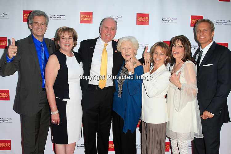 LOS ANGELES - JUN 7: Western Council Members, Gabrielle Carteris, Kate Linder, Patrick Fabian at the Actors Fund's 19th Annual Tony Awards Viewing Party at the Skirball Cultural Center on June 7, 2015 in Los Angeles, CA