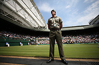 Centre Court<br /> <br /> Photographer Rob Newell/CameraSport<br /> <br /> Wimbledon Lawn Tennis Championships - Day 4 - Thursday 5th July 2018 -  All England Lawn Tennis and Croquet Club - Wimbledon - London - England<br /> <br /> World Copyright &not;&uml;&not;&copy; 2017 CameraSport. All rights reserved. 43 Linden Ave. Countesthorpe. Leicester. England. LE8 5PG - Tel: +44 (0) 116 277 4147 - admin@camerasport.com - www.camerasport.com