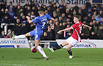 Lewis Hardcastle of Salford City striking passed Jake Carroll of Hartlepool Utd - Emirates FA Cup Second Round Replay - Hartlepool vs Salford City - Victoria Park - Hartlepool - England - 15th of December 2015 - Picture Jamie Tyerman/Sportimage