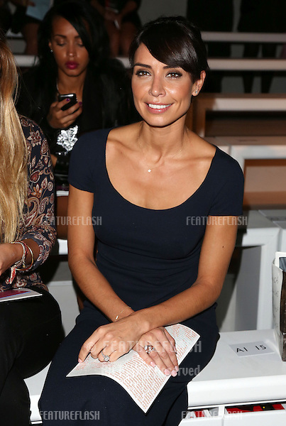 Christine Bleakley at the Jasper Conran catwalk show as part of London Fashion Week SS13, Somerset House, London.14/09/2012 Picture by: Henry Harris / Featureflash