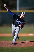 Indiana State Sycamores relief pitcher Ethan Larrison (38) delivers a pitch during a game against the Boston College Eagles on February 27, 2016 at North Charlotte Regional Park in Port Charlotte, Florida.  Boston College defeated Indiana State 5-3.  (Mike Janes/Four Seam Images)