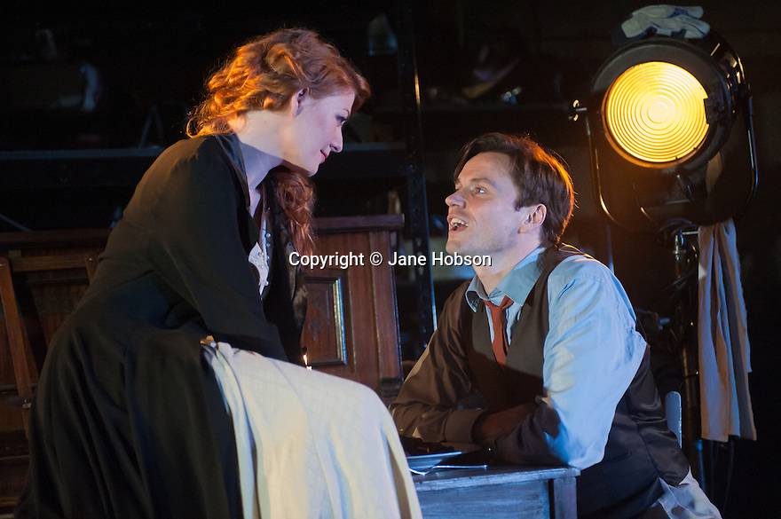 London, UK. 10.07.2012. MACK & MABEL opens at Southwark Playhouse. Picture shows:  Laura Pitt-Pulford (as Mabel) and Norman Bowman (as Mack). Photo credit: Jane Hobson.