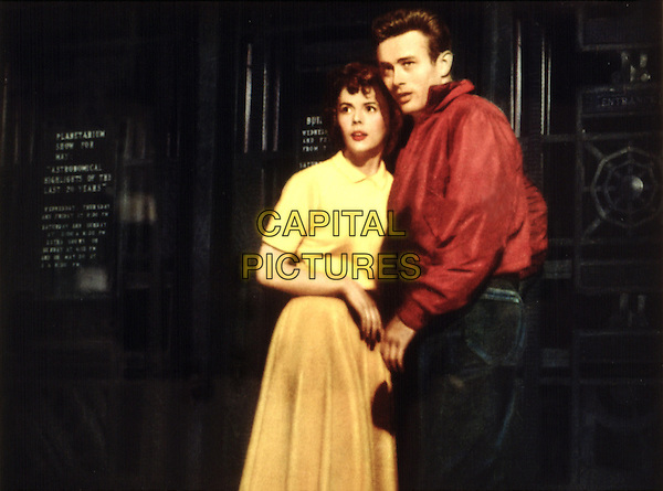 NATALIE WOOD & JAMES DEAN.in Rebel Without a Cause (1955) .*Filmstill - Editorial Use Only*.CAP/FB.Supplied by Capital Pictures.