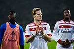 10.02.2018, Signal Iduna Park, Dortmund, GER, 1.FBL, Borussia Dortmund vs Hamburger SV, <br /> <br /> im Bild | picture shows:<br /> Andr&eacute; Hahn (HSV #11) und Gideon Jung (Hamburger SV #28) bedanken sich bei den Fans, <br /> <br /> <br /> Foto &copy; nordphoto / Rauch