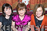 Birthday Girl - Aine Lennihan, from Ardfert, seated centre having a wonderful night celebrating her birthday with friends in Kate Browne's Pub on Saturday night. L/R Trisha Shanahan, Ardfert, Aine Lennihan and Josephine O'Reilly, Lixnaw.................................................................................................... ............   Copyright Kerry's Eye 2008