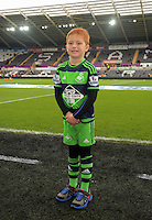 Child mascot before the Barclays Premier League match between Swansea City and Bournemouth at the Liberty Stadium, Swansea on November 21 2015