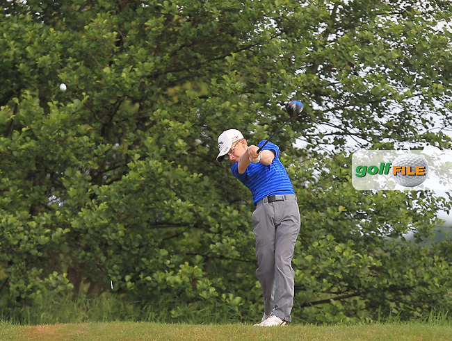 David Kitt (Athenry) on the 12th tee during Round 3 of the 2016 Connacht Strokeplay Championship at Athlone Golf Club on Sunday 12th June 2016.<br />