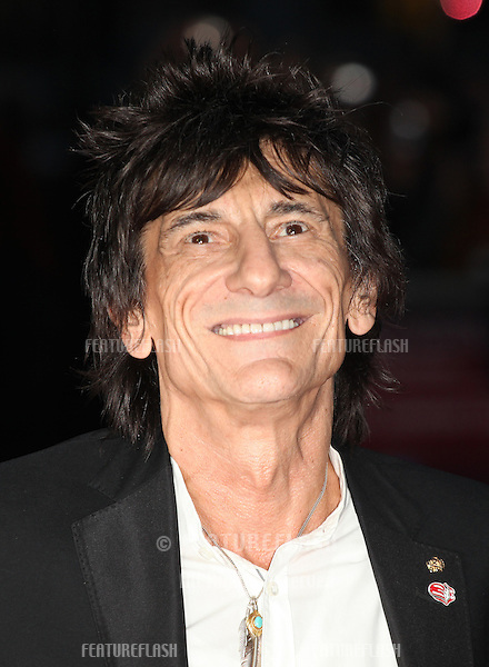 Ronnie Wood arriving the Premiere of 'Crossfire Hurricane' during the 56th BFI London Film Festival at Odeon Leicester Square, London. 18/10/2012 Picture by: Alexandra Glen / Featureflash