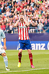 Atletico de Madrid's Godin and Celta de Vigo's Jonny and Sergio during La Liga Match at Vicente Calderon Stadium in Madrid. May 14, 2016. (ALTERPHOTOS/BorjaB.Hojas)